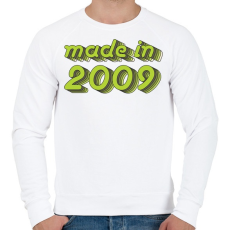 PRINTFASHION made-in-2009-green-grey - Férfi pulóver - Fehér