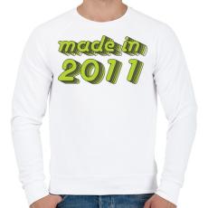 PRINTFASHION made-in-2011-green-grey - Férfi pulóver - Fehér