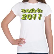 PRINTFASHION made-in-2011-green-grey - Női póló - Fehér