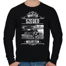 PRINTFASHION Maffia Szeged - Férfi pulóver - Fekete