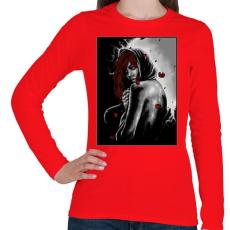 PRINTFASHION Magány - Női hosszú ujjú póló - Piros