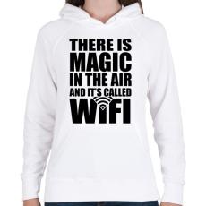 PRINTFASHION Magic WiFi - Női kapucnis pulóver - Fehér