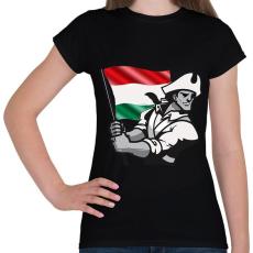 PRINTFASHION Magyar Patrióta  - Női póló - Fekete