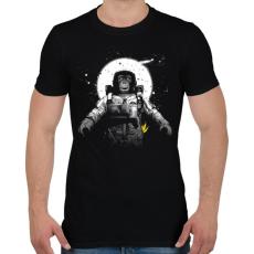 PRINTFASHION Majom az űrben - Férfi póló - Fekete