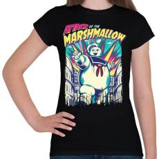 PRINTFASHION Mályvacukros támadás - Női póló - Fekete