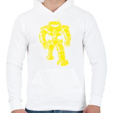 PRINTFASHION MAN BOT VINTAGE - Férfi kapucnis pulóver - Fehér