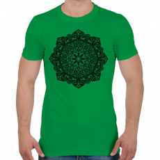 PRINTFASHION Mandala - Férfi póló - Zöld