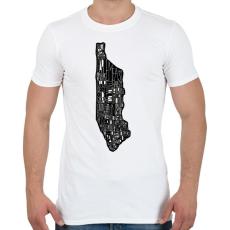 PRINTFASHION Manhattan - Férfi póló - Fehér