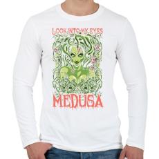 PRINTFASHION Medusa - Férfi hosszú ujjú póló - Fehér