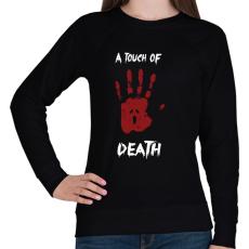 PRINTFASHION Megérint a halál - Női pulóver - Fekete