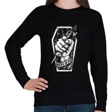 PRINTFASHION Meló halálig - Női pulóver - Fekete