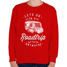 PRINTFASHION Menjünk kirándulni - Gyerek pulóver - Piros