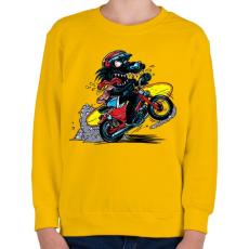 PRINTFASHION Menő farkas - Gyerek pulóver - Sárga
