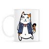 PRINTFASHION Menő macska - Bögre - Fehér