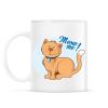 PRINTFASHION Meow me! - cicás póló - Bögre - Fehér