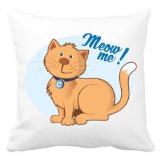 PRINTFASHION Meow me! - cicás póló - Párnahuzat, Díszpárnahuzat - Fehér