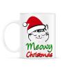 PRINTFASHION Meowy Christmas! - Bögre - Fehér