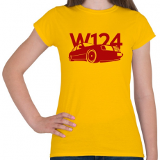 PRINTFASHION Mercedes w124 - Női póló - Sárga