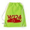 PRINTFASHION Mercedes w124 - Sportzsák, Tornazsák - Limezöld