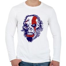 PRINTFASHION Mérges gorilla - Férfi hosszú ujjú póló - Fehér