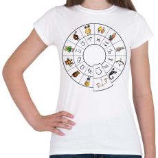 PRINTFASHION Mérleg - Női póló - Fehér