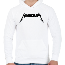 PRINTFASHION METÁL minecraft - Férfi kapucnis pulóver - Fehér