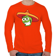 PRINTFASHION Mexico - Férfi hosszú ujjú póló - Narancs