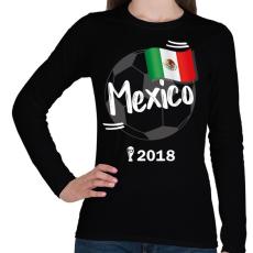 PRINTFASHION Mexikó - Női hosszú ujjú póló - Fekete