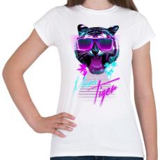 PRINTFASHION Miami tiger - Női póló - Fehér