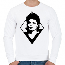 PRINTFASHION Michael Jackson - Férfi pulóver - Fehér