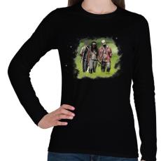PRINTFASHION Michonne - Női hosszú ujjú póló - Fekete