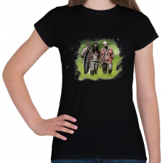 PRINTFASHION Michonne - Női póló - Fekete