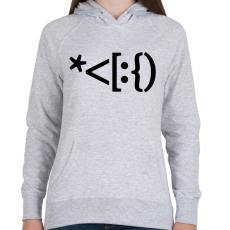 PRINTFASHION Mikulás emoji - Női kapucnis pulóver - Sport szürke
