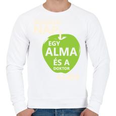 PRINTFASHION minden-nap-egy-alma-white-green - Férfi pulóver - Fehér