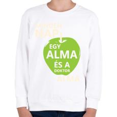 PRINTFASHION minden-nap-egy-alma-white-green - Gyerek pulóver - Fehér