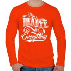 PRINTFASHION Mindenben van valami szép.  - Férfi hosszú ujjú póló - Narancs