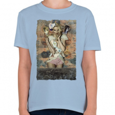 PRINTFASHION Mindenhol őt látom - Gyerek póló - Világoskék gyerek póló