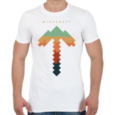 PRINTFASHION Minecraft bányász - Férfi póló - Fehér