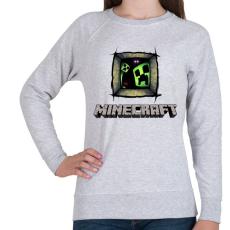 PRINTFASHION Minecraft - Női pulóver - Sport szürke
