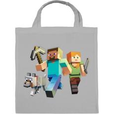 PRINTFASHION Minecraft - Vászontáska - Szürke
