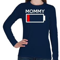 PRINTFASHION MOMMY - Női hosszú ujjú póló - Sötétkék