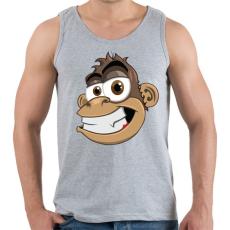 PRINTFASHION Monkey - Férfi atléta - Sport szürke