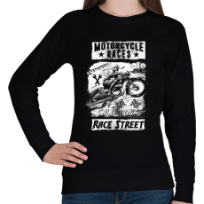 PRINTFASHION Motorverseny - Női pulóver - Fekete