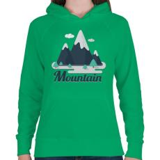 PRINTFASHION Mountain - Női kapucnis pulóver - Zöld