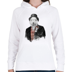 PRINTFASHION Mr Phil - Női kapucnis pulóver - Fehér