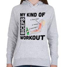 PRINTFASHION My Kind Of BICEPS Workout /g/ - Női kapucnis pulóver - Sport szürke