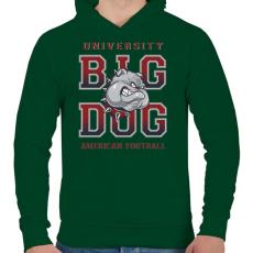 PRINTFASHION Nagy kutya - Férfi kapucnis pulóver - Sötétzöld