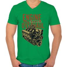 PRINTFASHION Nagyszervíz - Férfi V-nyakú póló - Zöld