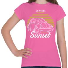 PRINTFASHION Naplemente - Női póló - Rózsaszín