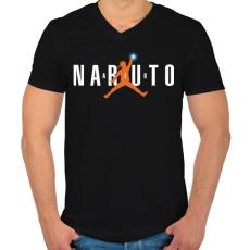 PRINTFASHION Naruto Air - Férfi V-nyakú póló - Fekete